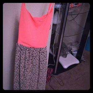 Leopard/Pink maxi dress